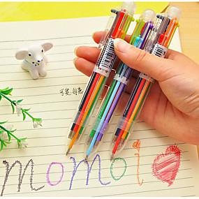 olcso Irodaszerek-6 színes golyóstoll színes toll tanszerek