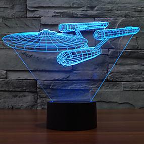 رخيصةأون مصابيح ليد مبتكرة-1 قطعة ليلة 3D USB تخفيت 5 V