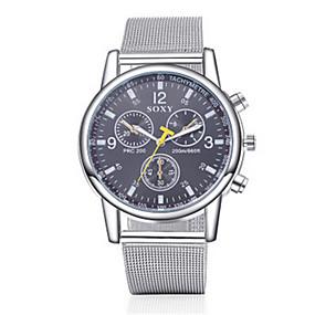 Недорогие Фирменные часы-SOXY Муж. Нарядные часы Кварцевый Нержавеющая сталь Серебристый металл Повседневные часы Аналоговый Кулоны Классика - Белый Черный