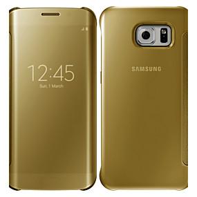 رخيصةأون Galaxy S5 أغطية / كفرات-غطاء من أجل Samsung Galaxy S6 edge plus / S6 edge / S6 مرآة / قلب غطاء كامل للجسم لون سادة الكمبيوتر الشخصي