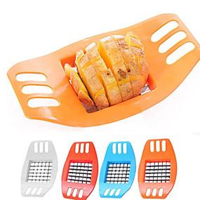 رخيصةأون أدوات & أجهزة المطبخ-1PCS المقاوم للصدأ البطاطا الصلب الخضار تقطيع البطاطس الرأسي القاطع المروحية رقائق البطاطس صنع أداة قطع أداة البطاطس