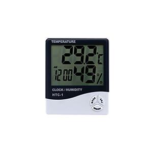رخيصةأون آلات الحرارة-الرطوبة الرقمية htc-1 ترمومتر داخلي ، دقة الرطوبة متر رصد الحرارة للمنزل ، مكتب ، الدفيئة