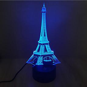 povoljno LED noćna rasvjeta-3D noćno svjetlo Ukrasno LED 1 kom.