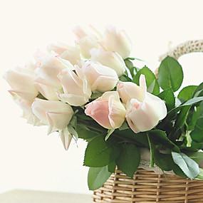 povoljno Umjetno cvijeće-Umjetna Cvijeće 10 Podružnica Europska Style Roses Cvjeće za stol