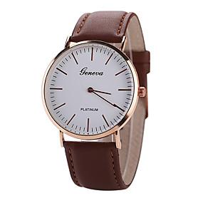 ieftine Ceasuri pt Rochii-Geneva Bărbați Ceas de Mână Quartz Casual Ceas Casual Analog Negru Maro / Piele / Un an / Tianqiu 377