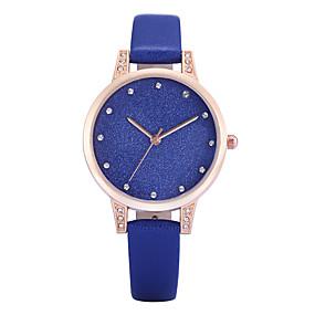 voordelige Merk Horloge-REBIRTH Dames Polshorloge Kwarts Gewatteerd PU-leer Zwart / Wit / Blauw imitatie Diamond Analoog Dames Amulet Informeel Modieus Elegant - Grijs Blauw Roze Twee jaar Levensduur Batterij