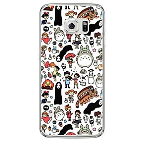 voordelige Galaxy S6 Edge Plus Hoesjes / covers-hoesje Voor Samsung Galaxy S7 edge / S7 / S6 edge plus Transparant / Patroon Achterkant Cartoon Zacht TPU