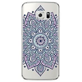 voordelige Galaxy S6 Edge Plus Hoesjes / covers-hoesje Voor Samsung Galaxy S7 edge / S7 / S6 edge plus Transparant / Patroon Achterkant Mandala Zacht TPU