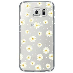 voordelige Galaxy S6 Edge Plus Hoesjes / covers-hoesje Voor Samsung Galaxy S7 edge / S7 / S6 edge plus Transparant / Patroon Achterkant Bloem Zacht TPU