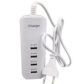 levne Nabíječka s kabelem-Domácí nabíječka Nabíječka USB EU zásuvka Více portů 4 USD porty 2 A / 1 A pro