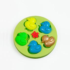 povoljno Dom i vrt-Silikon Kamado roštilj Uradi sam Torta / kolači Pita Čokoladno smeđa Sa životinjama kalupa za pečenje Bakeware alati