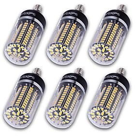 رخيصةأون أضواء LED ذرة-YouOKLight 6PCS أضواء LED ذرة 1200 lm E14 E12 E26 / E27 T 120 الخرز LED مصلحة الارصاد الجوية 5736 ديكور أبيض دافئ أبيض كول 220-240 V 110-130 V 85-265 V / 6 قطع