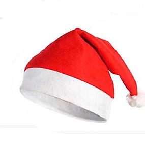 olcso Vakációs kellékek-Karácsonyi partieszközök Mikulás kosztümök Mikulás kalap Bájos Textil Felnőttek Játékok Ajándék 1 pcs