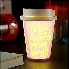 זול נורות לילה לד-צבע יצירתי KTV בפאב אקראי 1pc כוס דיקסי סביבתי הוביל הוביל אור לילה מנורת drinkware