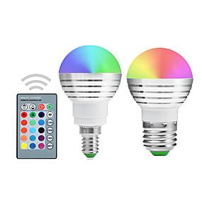 olcso Dekorációs izzók-YWXLIGHT® 2pcs 5 W LED gömbbúrás izzók 300 lm E14 E26 / E27 1 LED gyöngyök Integrált LED Tompítható Távvezérlésű Dekoratív RGB 220-240 V 110-130 V 85-265 V / 2 db. / RoHs