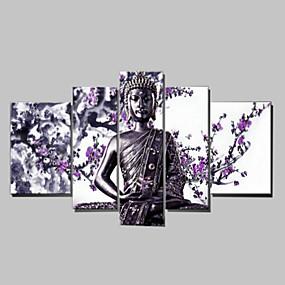 povoljno Bojano-Ručno oslikana Ljudi bilo koji oblik Platno Hang oslikana uljanim bojama Početna Dekoracija Pet ploha