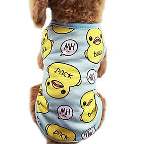cheap Pet Supplies-Cat Dog Shirt / T-Shirt Dog Clothes Blue Pink Costume Cotton Cartoon Fashion XS S M L XL XXL