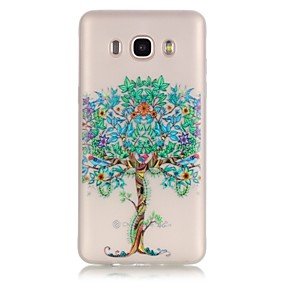 voordelige Galaxy Core Prime Hoesjes / covers-hoesje Voor Samsung Galaxy J7 (2016) / J5 (2016) / J3 Glow in the dark / Transparant Achterkant Boom Zacht TPU