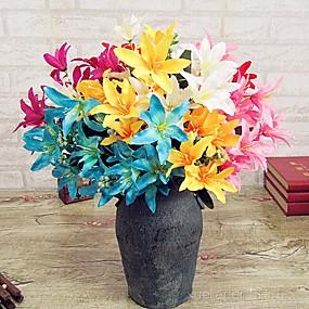 levne Umělé květiny-Umělé květiny 1 Větev Moderní styl Lilie Květina na stůl