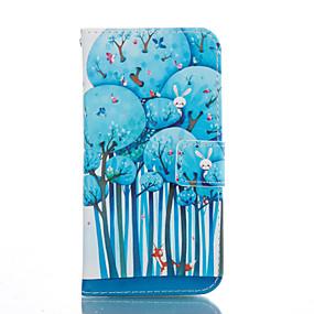 voordelige Galaxy S6 Edge Plus Hoesjes / covers-hoesje Voor Samsung Galaxy S7 edge / S7 / S6 edge plus Kaarthouder / met standaard / Flip Volledig hoesje Boom Zacht PU-nahka