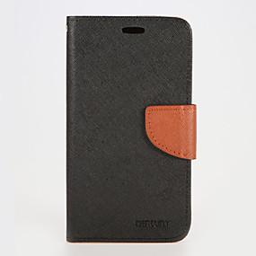 voordelige Galaxy S7 Hoesjes / covers-hoesje Voor Samsung Galaxy S7 edge / S7 / S6 edge plus Portemonnee / Kaarthouder / met standaard Volledig hoesje Effen PU-nahka