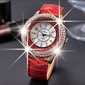 ieftine Cuarț ceasuri-Pentru femei Ceasuri de lux Ceasuri din Cristal Diamond Watch Quartz femei Ceas Casual Analog Alb Negru Mov / Piele
