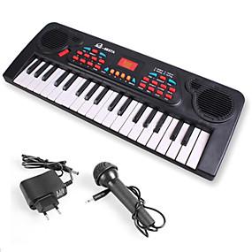 olcso Klasszikus játékok-Elektronikus billentyűzet Zongora Móka Mikrofonnal Gyermek Ajándék Fiú Lány Ajándék