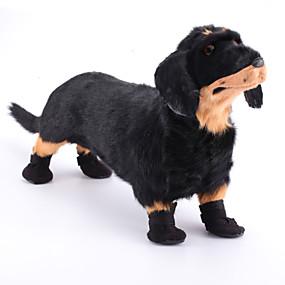Недорогие Бижутерия и аксессуары для собак-Собаки Коты Маленькие зверьки Ботинки и сапоги Дышащий Для домашних животных Полиэстер / Хлопок Черный