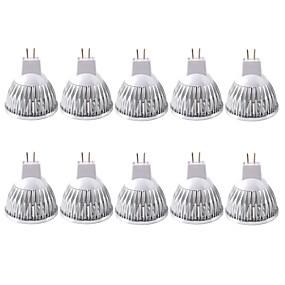 ieftine Spoturi LED-zdm 10 pachete, mr16 / gu5.3 becuri conduse de 35w 210lm, 12v dc, echivalent incandescent de 20 watt, lumina reflectoarelor ultra luminoase
