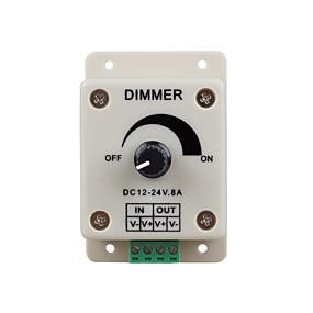 olcso Kapcsolók & Foglalatok-zdm 1pc dc12-24v 8amp 0% -100% monokróm fényszabályozó vezérlés a ledlámpákhoz vagy szalagokhoz