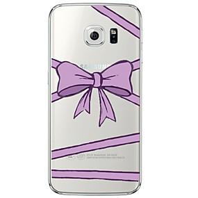 voordelige Galaxy S7 Hoesjes / covers-hoesje Voor Samsung Galaxy S7 edge / S7 / S6 edge plus Transparant / Patroon Achterkant Lijnen / golven Zacht TPU