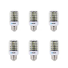 رخيصةأون أضواء LED ذرة-BRELONG® 6PCS 7 W أضواء LED ذرة 450 lm E14 B22 E26 / E27 B 108 الخرز LED مصلحة الارصاد الجوية 5733 ديكور أبيض دافئ أبيض كول 220-240 V 200-240 V / 6 قطع / بنفايات