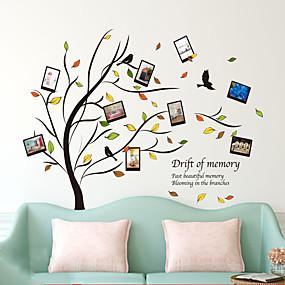 hesapli Dekorasyon Etiketleri-Natürmort Romantizm Botanik Duvar Etiketler Uçak Duvar Çıkartmaları 3D Duvar Çıkartması Dekoratif Duvar Çıkartmaları, Vinil Ev dekorasyonu