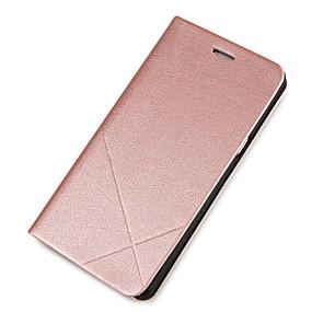 voordelige Galaxy J1 Hoesjes / covers-hoesje Voor Samsung Galaxy J7 (2016) / J7 / J5 (2016) Kaarthouder / met standaard / Flip Volledig hoesje Effen Hard PU-nahka