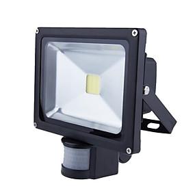 olcso LED projektorok-1db 20 W LED projektorok Vízálló / Dekoratív / Mozgásérzékelő monitor Meleg fehér / Hideg fehér 85-265 V Kültéri világítás / Udvar / Kert 1 LED gyöngyök