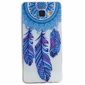voordelige Galaxy A3(2016) Hoesjes / covers-hoesje Voor Samsung Galaxy A5(2016) / A3(2016) Patroon Achterkant Veren Zacht TPU