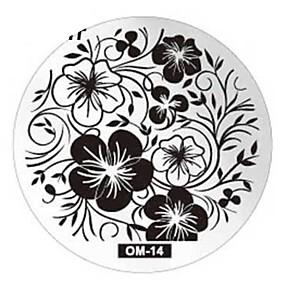olcso Körömdíszítő bélyegző sablon lemez-1 Nail bélyegzés Képsablon lemezek Stamper kaparó