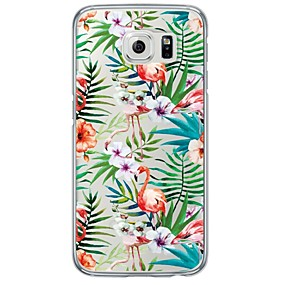 voordelige Galaxy S6 Edge Plus Hoesjes / covers-hoesje Voor Samsung Galaxy S7 edge / S7 / S6 edge plus Transparant / Patroon Achterkant Tegel Zacht TPU