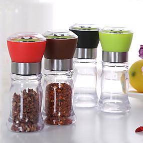 olcso Évszakos tárolás-130 mm-es akril kézi borscsiszoló só fűszerek miller shaker