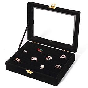 cheap Jewelry Box & Display-Square Jewelry Boxes - Fashion Black, White, Blue / Women's