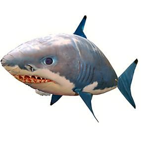 olcso Outdoor játékok-RC Shark Távirányító állatok Repülő Shark Bohóchal Felfújható Realista mozgás Air Swimmer PP+ABS 1 pcs Összes Fiú Lány Játékok Ajándék