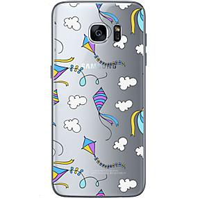 voordelige Galaxy S7 Edge Hoesjes / covers-hoesje Voor Samsung Galaxy S7 edge / S7 / S6 edge plus Patroon Achterkant Balloon Zacht TPU
