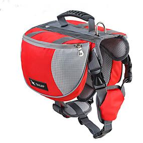 preiswerte Haustierzubehör-Hund Dog-Pack Hunde-Rucksack Hundesatteltasche Wasserdicht Nylon Schwarz Rot Blau