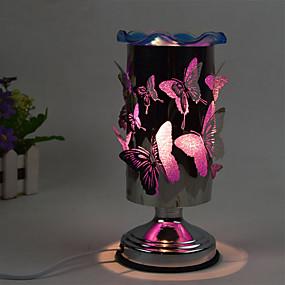 رخيصةأون مصابيح ليد مبتكرة-توصيل 1PC في الكهرباء حساسة للمس فراشة الزيوت العطرية مصباح العطر هدية