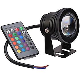 olcso LED projektorok-1db 10 W Okos LED izzók 480 lm 1 LED gyöngyök Integrált LED Tompítható Távvezérlésű Dekoratív RGB 12 V