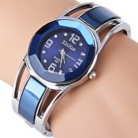 ราคาถูก นาฬิกาควอตซ์-สำหรับผู้หญิง สุภาพสตรี นาฬิกาสร้อยข้อมือ จำลอง Diamond Watch นาฬิกาอิเล็กทรอนิกส์ (Quartz) สแตนเลส ดำ / ฟ้า Rhinestone เลียนแบบเพชร ระบบอนาล็อก กำไล แฟชั่น นาฬิกาตกแต่งข้อมือ - สีดำ สีกรมท่า ขาว