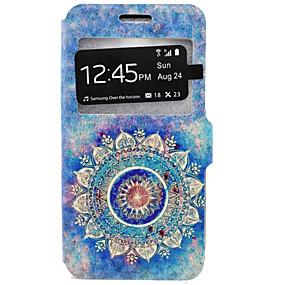 voordelige Galaxy J7 Hoesjes / covers-hoesje Voor Samsung Galaxy J7 / J5 / J3 (2016) Kaarthouder / met standaard Volledig hoesje Mandala Hard PU-nahka