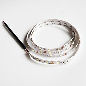 olcso LED & Világítás-SENCART 1db Hideg fehér DC táplálás Cuttable / Gépjárműbe / Könnyű 12 V Csík világítás