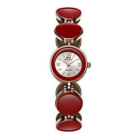Недорогие Фирменные часы-SOXY Жен. Часы-браслет Кварцевый Черный / Белый / Красный 30 m Повседневные часы / Аналоговый Дамы На каждый день Мода Элегантный стиль Нарядные часы - Белый Черный Красный / Один год / Один год