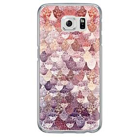 voordelige Galaxy S7 Edge Hoesjes / covers-hoesje Voor Samsung Galaxy S7 edge / S7 / S6 edge plus Ultradun / Doorzichtig Achterkant Geometrisch patroon Zacht TPU